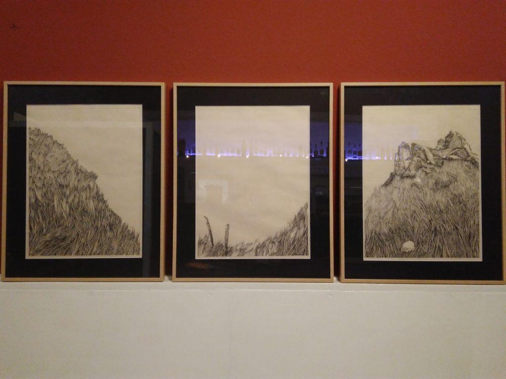 Rahmen, Bergen, Thal, Schwarz, Weiss