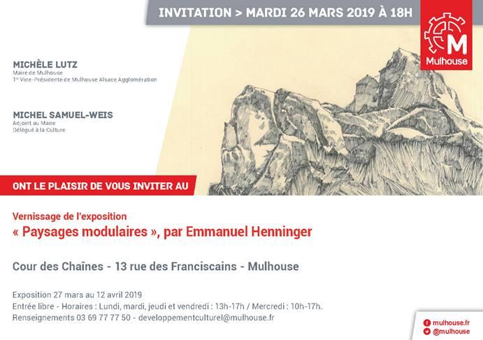 Emmanuel Henninger, Cour des Chaînes, Mulhouse, exposition, art