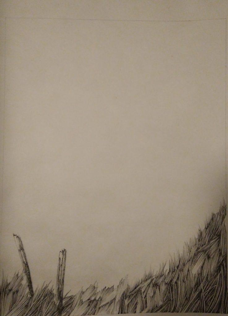 Henninger Emmanuel, art, ink, Japanese Paper, Grasses, Herbs