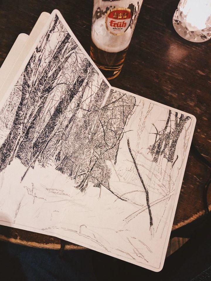 Hambach, encre, noir et blanc, Emmanuel Henninger