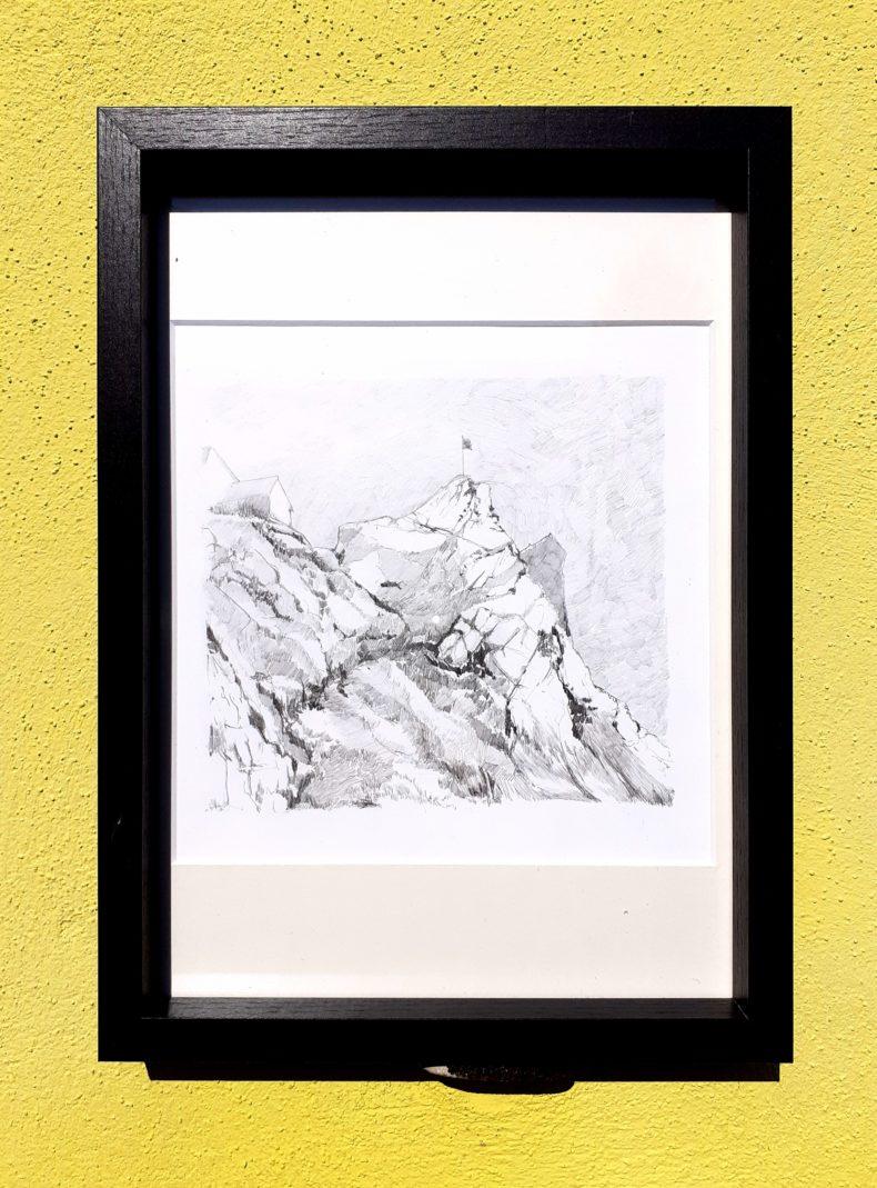 Toggenburg, Suisse, Sântis, Emmanuel Henninger, zeichnung, Schweiz, art, kunst