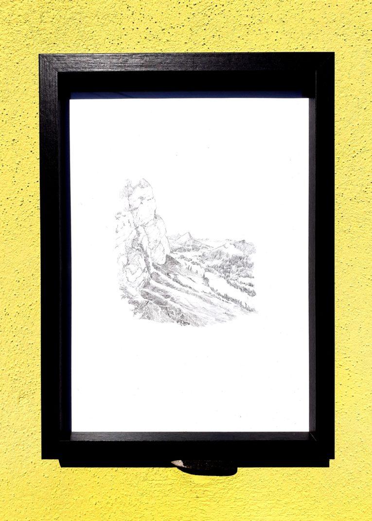 Toggenburg, Suisse, Sântis, Emmanuel Henninger, Zeichnung, Schweiz