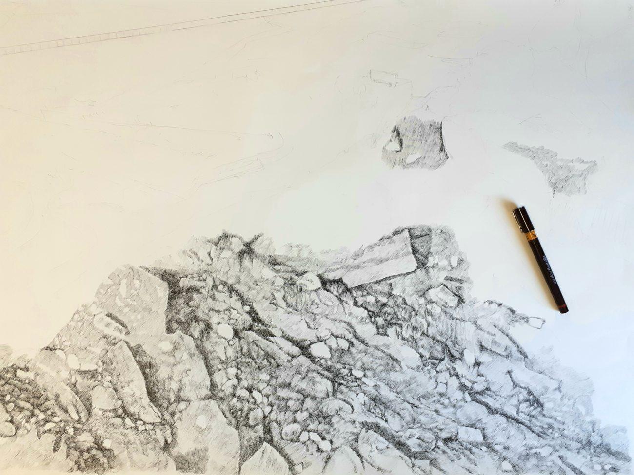 Emmanuel Henninger, Dessin, art, noir et blanc