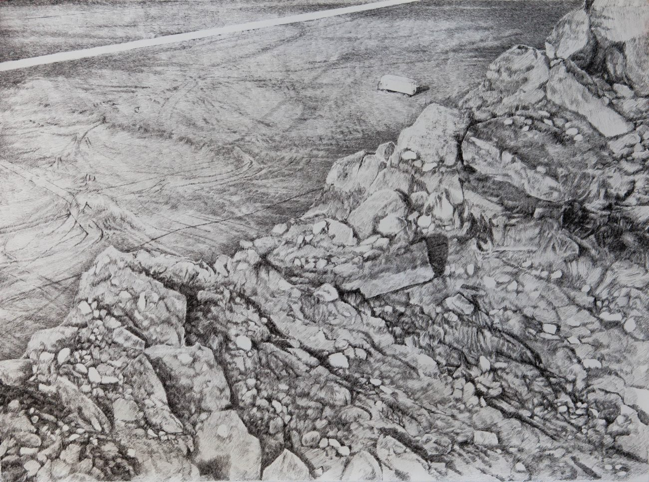 emmanuel henninger, kunst, landschaften, tagebau, köhle, zeichnung