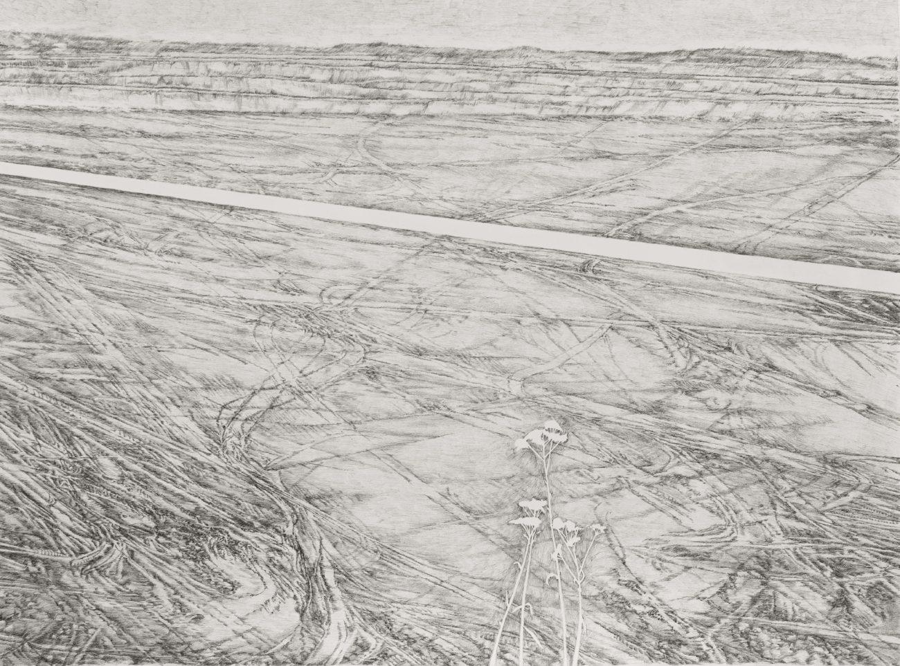 Emmanuel Henninger, openpit, hambach, allemagne, dessin, encre, noir, blanc, industrie, contemporain, art