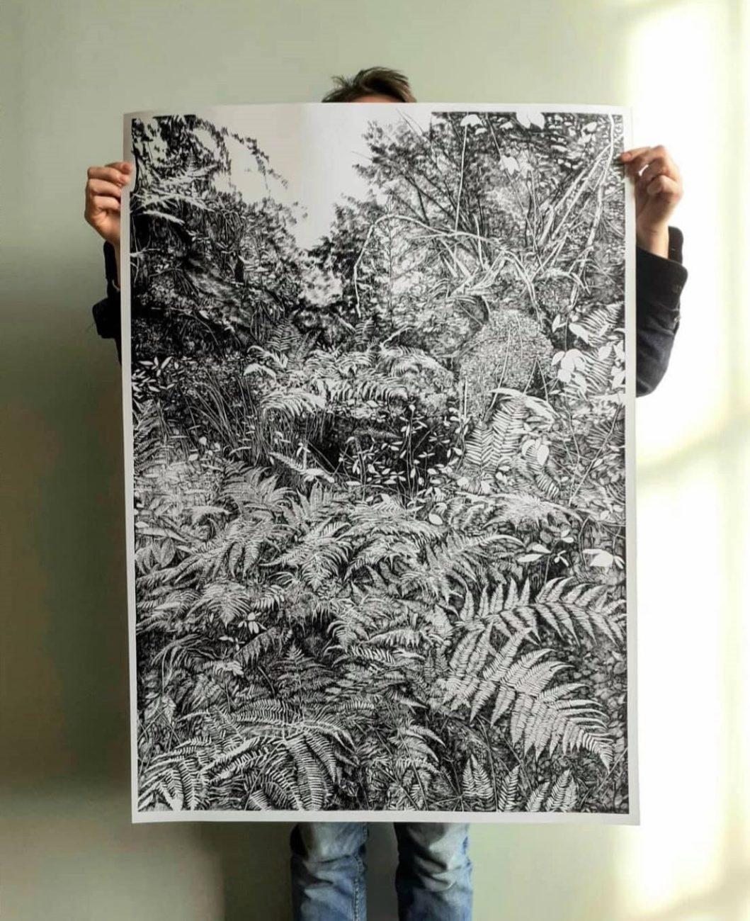 Serigraphy, henninger, urwald, forest, french, art