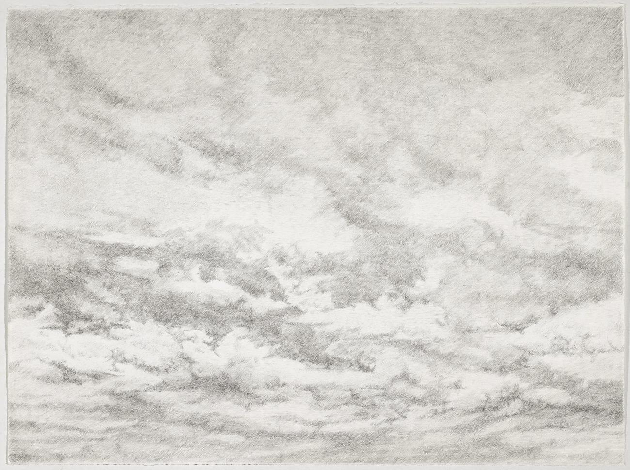 clouds, art, drawing, realistic, art, contemporary, black, xhite, ink, landscape, henninger