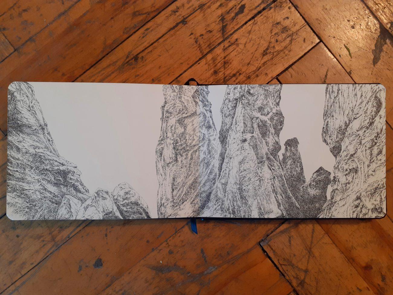 Goris, art, contemporaryart, artist, residency, armenia, ink, black, white, french, artist, Henninger emmanuel